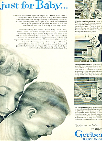 Gerber's baby foods ad 1954 (Image1)