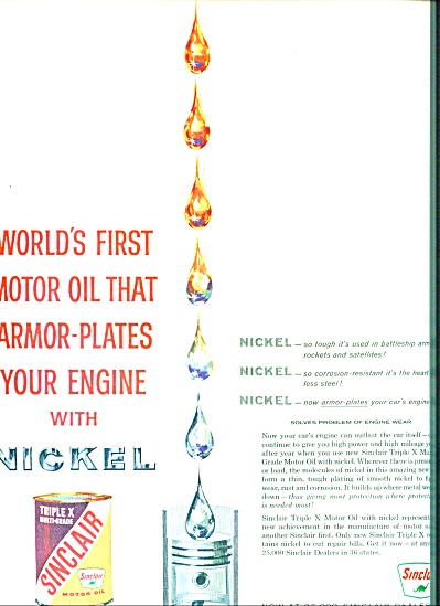 Sinclair triple x motor oil ad 1959 (Image1)