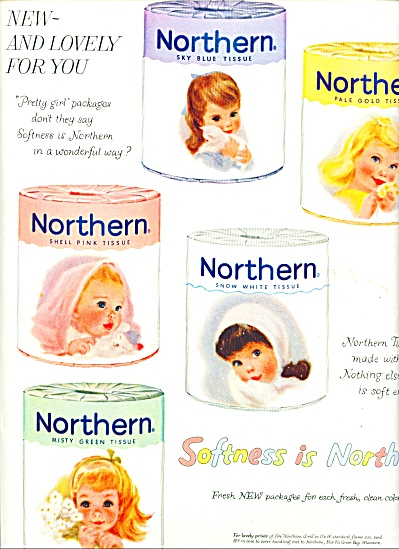 1959 Northern Tissue AD 5 Little Pastel GIRLS (Image1)