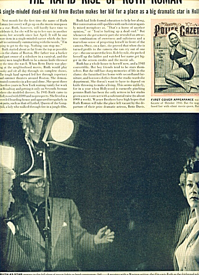 1950 RUTH ROMAN  Rising Motion Pic STAR Story (Image1)