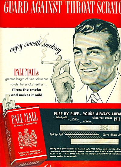 1950 Pall Mall cigarettes AD Smoking MAN (Image1)