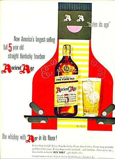 Ancient Age Straight Kentucky Bourbon Ad 1950