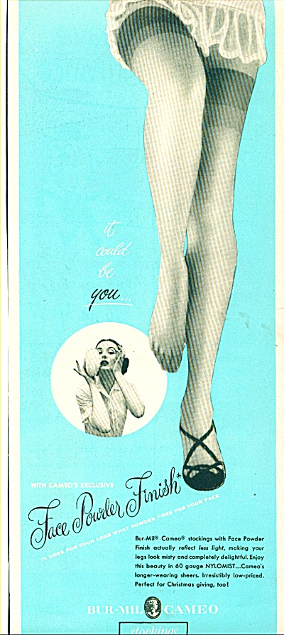 1950 Bur-Mil Cameo HOSE Stockings AD LEGS (Image1)