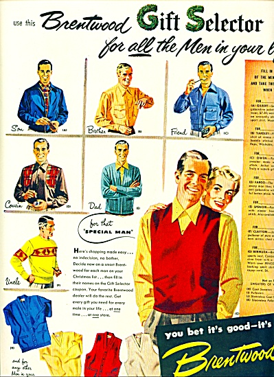 1950 Brentwood Sweater AD MEN's Clothing (Image1)