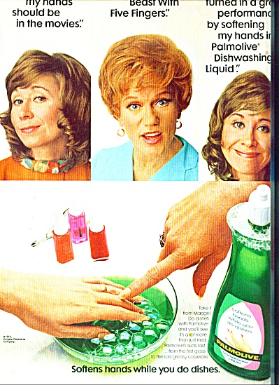 Palmolive dishwashing liquid ad 1972 (Image1)