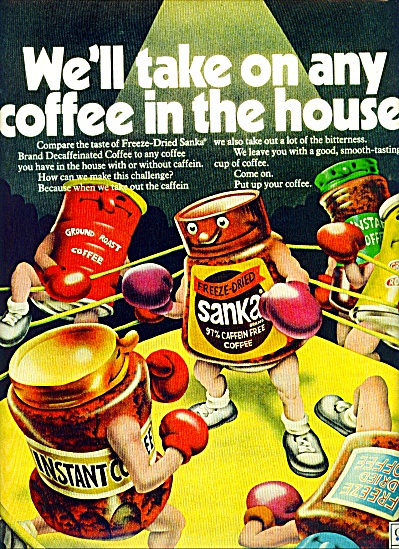 Sanka Freeze dried coffee ad 1972 (Image1)