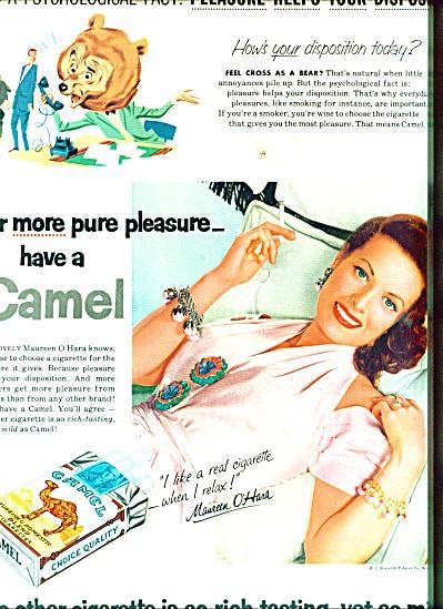 1955 Camel Cigarettes - MAUREEN O'HARA  AD (Image1)