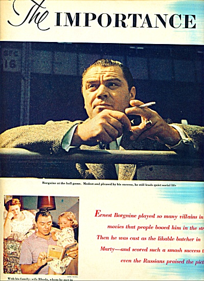 1955 ERNEST BORGNINE - Being Marty ARTICLE 6p (Image1)