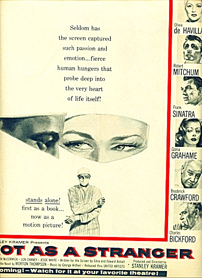 Not As A Stranger - Mitchum Sinatra Movie Ad