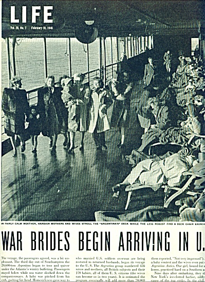 1946 War Brides arriving in U. S after WW II (Image1)