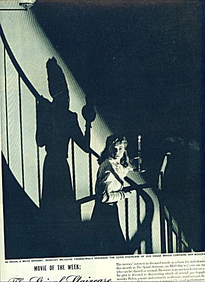 1946 STORY  SPIRAL staircase Dorothy McGuire (Image1)