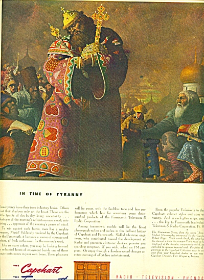 1945 Capehart - Farnsworth AD TIME OF TYRANNY (Image1)