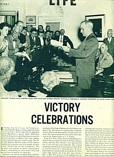 WWII Victory celebrations. Harry Truman (Image1)