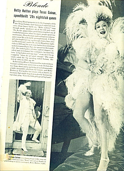 1946  INCENDIARY BLONDE -  Betty  Hutton 3pg (Image1)