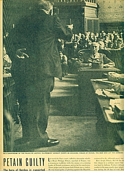 1945 Trial of Marshal Petain in France story (Image1)