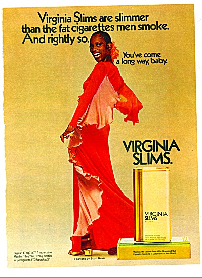 Virginia Slims Cigarettes Ad Naomi Sims Model