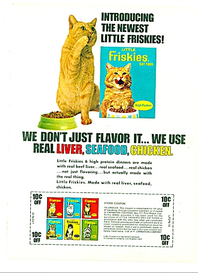 Little Friskies Cat food ad (Image1)