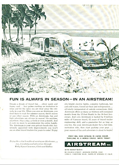 1962 Airstream Travel Trailer AD VACATION LAND (Image1)