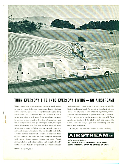 1962 Airstream Travel Trailer Ad