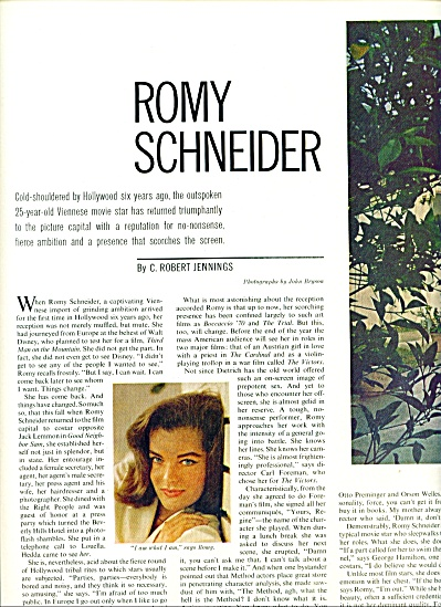 ROMY SCHNEIDER  - Actress story 1963 (Image1)