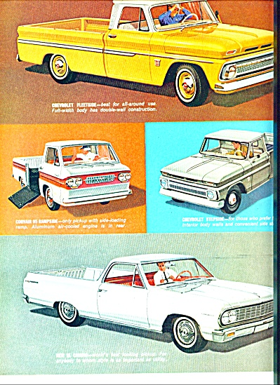 1963 Chevrolet Pickup Trucks AD 2pg COOL (Image1)