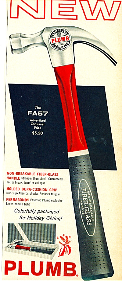 Plumb fiber glass handle hammer ad 1963 (Image1)