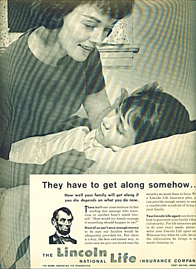 1963 Lincoln National Life Insurance AD (Image1)