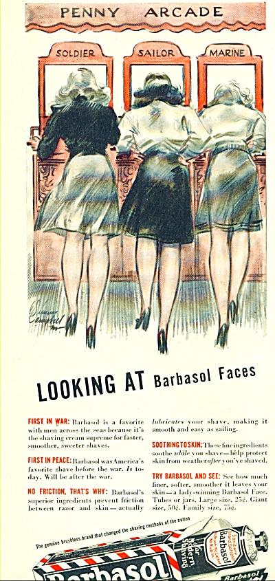 1945 Barbasol AD E. SIMMS CAMPBELL ART (Image1)