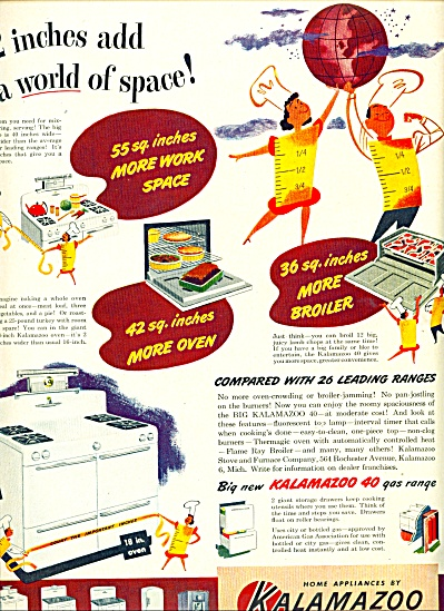 1948 Kalamazoo Kitchen  appliances AD (Image1)