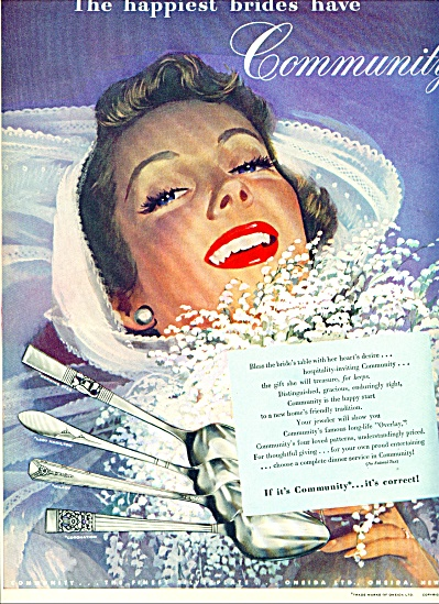1948 Community Silver ad Whitcomb BRIDE ART (Image1)