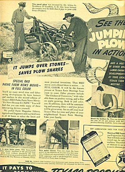 1949 Texaco Man AD Vintage Farm Plow (Image1)