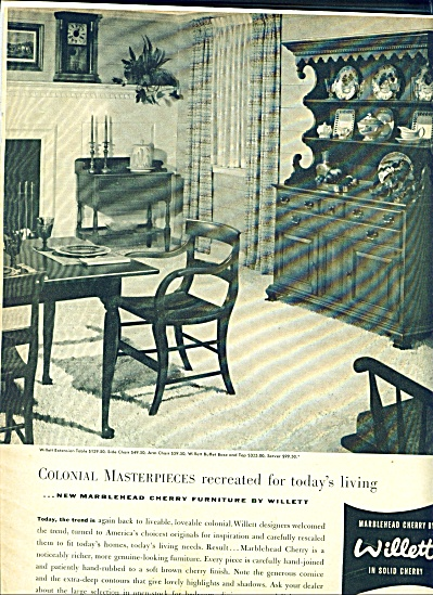 Willett marblehead cherry furniture ad 1942 (Image1)