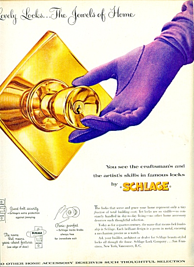 Schlage craftsmans famous locks ad (Image1)