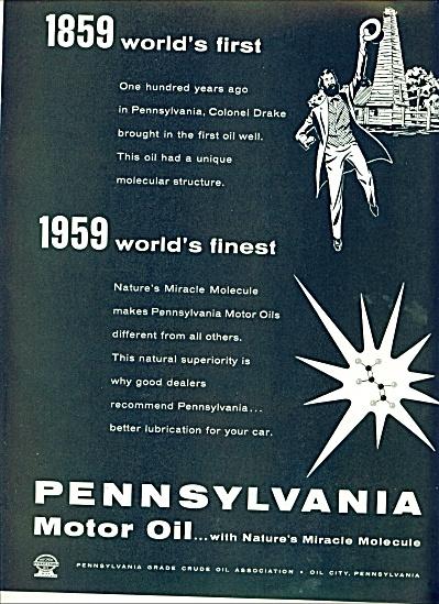 Pennsylvania Motor oil ad 1959 (Image1)