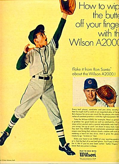1967 Wilson Sporting goods AD - RON SANTO (Image1)