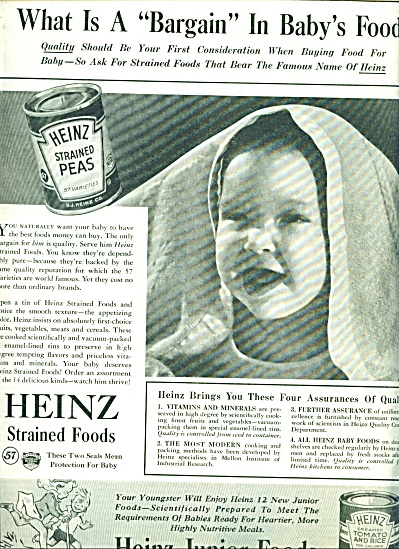 Heinz Junior foods ad 1940 (Image1)