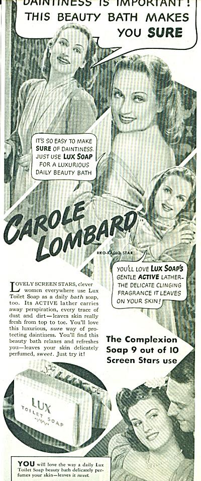 Lux toilet soap - CAROLE LOMBARD  ad 1940 (Image1)