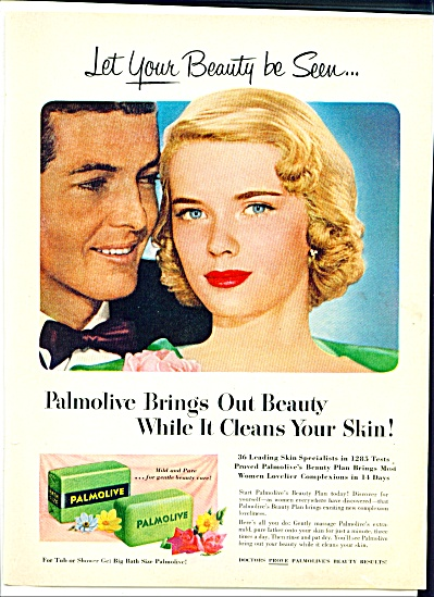 1952 Palmolive soap ad BEAUTIFUL BLONDE (Image1)