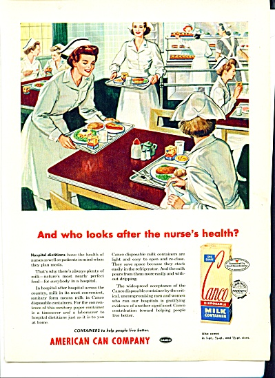 Vintage Canco Milk AD NURSE NURSES ARTWORK (Image1)