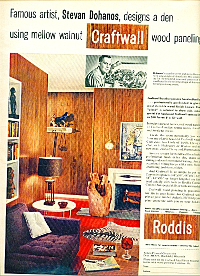 Roddis -Craftwall wood paneling ad 1959 (Image1)