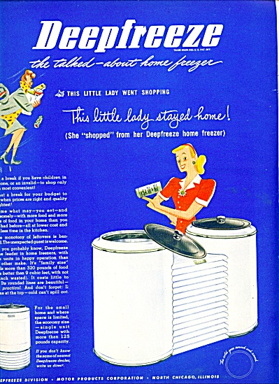 Deepfreeze Division Motor products ad 1946 (Image1)