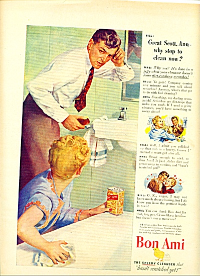 1946 Bon Ami AD BEAUTIFUL ART w/ ANN - BILL (Image1)