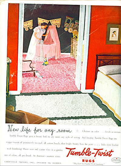 1949 Tumble Twist Rug AD Mom BABY ROOM DECOR (Image1)