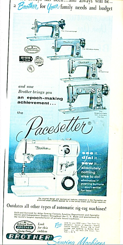 Brothers Sewing Machines ad 1956 (Image1)