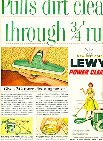 Lewyt power cleaner ad 1956 (Image1)
