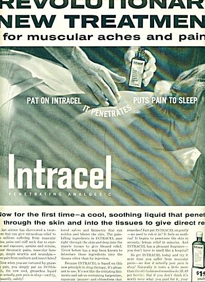 Intracel penetrating Analgesic ad 1956 (Image1)