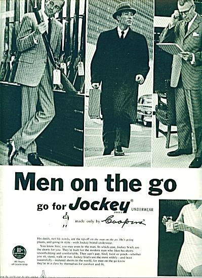 1956 Jockey Underwear AD FOR MEN ON THE GO (Image1)