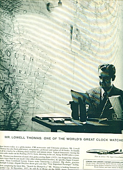 Lockheed Aircraft Corp. Lowell Thomas