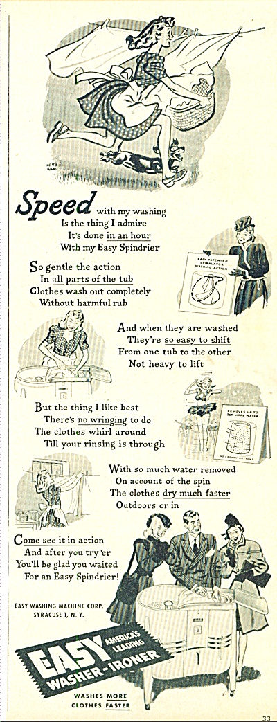 Easy Washer-Ironer ad 1947 (Image1)
