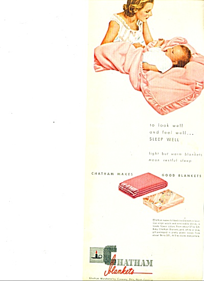 1947 Chatham blankets AD Mom - Baby in Pink (Image1)